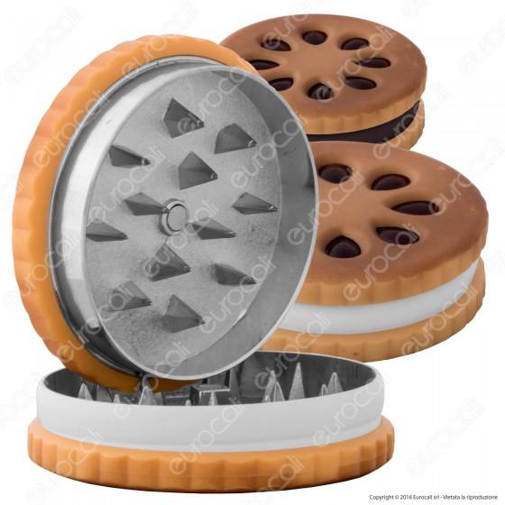 Grinder Cookie Tritatabacco 2 Parti in Metallo - Biscotto