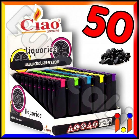 Ciao Maxi Fantasia Liquorice - Box da 50 Accendini