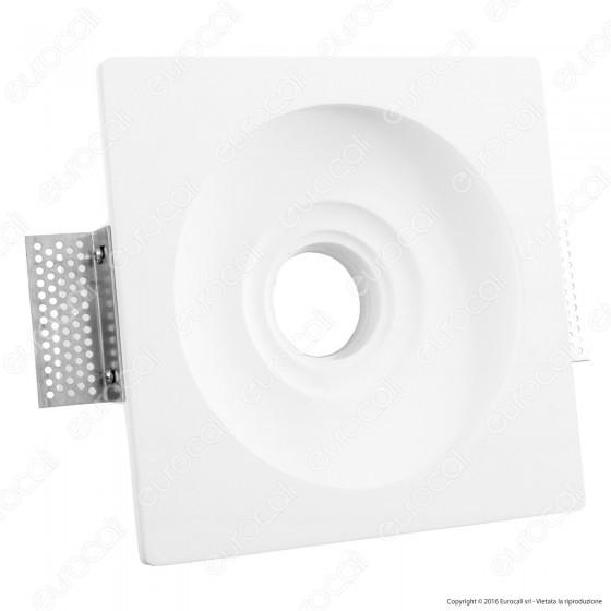 Portafaretto Quadrato da Incasso in Gesso per Lampadine GU10 e GU5.3 - ART2079