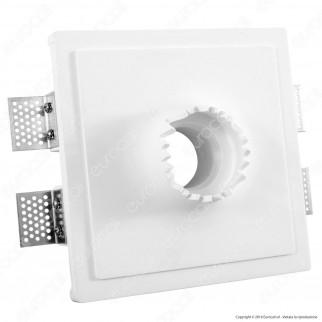 Portafaretto Quadrato da Incasso in Gesso per Lampadine GU10 e GU5.3 - ART1002