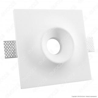 Portafaretto Quadrato da Incasso in Gesso per Lampadine GU10 e GU5.3 - ART2089