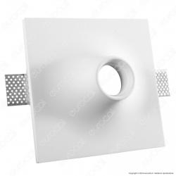 Portafaretto Quadrato da Incasso in Gesso per Lampadine GU10 e GU5.3 - ART2087