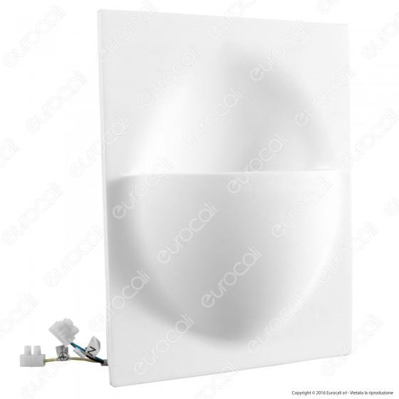 Portafaretto Rettangolare da Incasso in Gesso per Lampadine GU10 e GU5.3 - ART2096