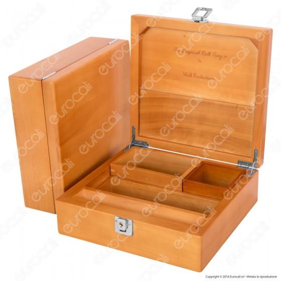 Spliff Box Deluxe T4 Stazione di Rollaggio in Legno - Wolf Production Original Roll Tray