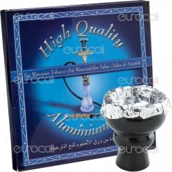 Alluminio per Narghilè - 100 Foglietti da 12 cm