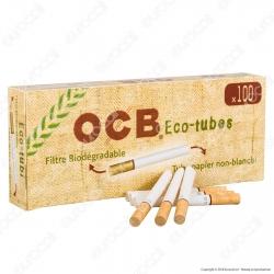 Ocb Tubetti con Filtro Biodegradabili - Box da 100 Sigarette Vuote