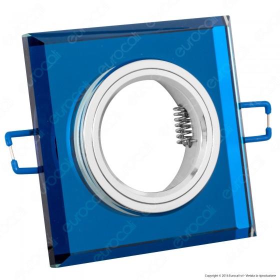 Kanlux MORTA B CT-DSL50-BL Portafaretto Quadrato da Incasso per Lampadine GU10 e GU5.3