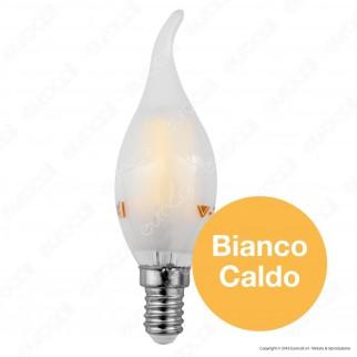 V-Tac VT-1937 Lampadina LED E14 4W Candela Fiamma Frost Filamento - SKU 4474 / 4475 / 4476