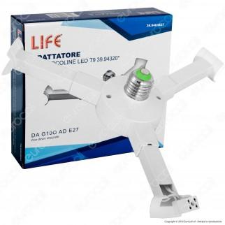 Life Adattatore per Circoline LED T9 da G10Q a E27 con driver integrato