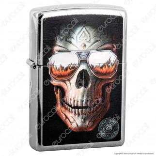 Accendino Zippo Mod. 29018 Anne Stokes Skull - Ricaricabile Antivento