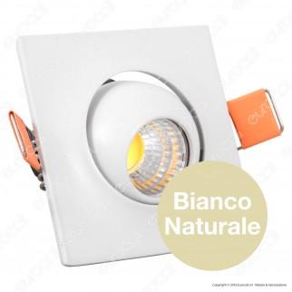 V-Tac VT-1133 SQ Faretto LED da Incasso Quadrato 3W COB - SKU 5095 / 5096 / 5097