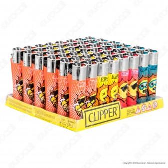 Clipper Large Fantasia Sunny Smile - Box da 48 Accendini