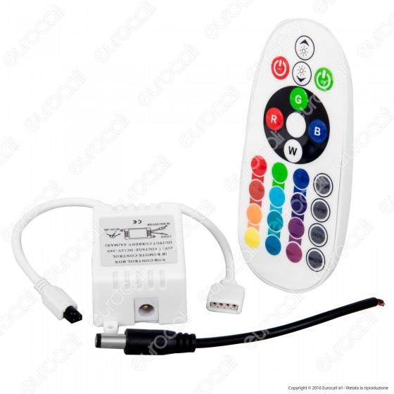 V-Tac Controller per Strisce LED RGB 5050 con Telecomando 24 Tasti - SKU 3304