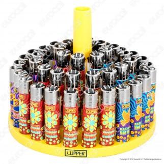 Clipper Large Fantasia Hippie Power 1 - Box da 48 Accendini