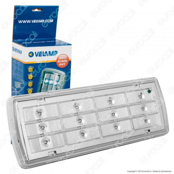 Velamp Lampada 12 LED D'Emergenza Anti Black Out Grado Protezione IP65
