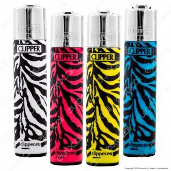 Clipper Large Fantasia Zebra Print - 4 Accendini