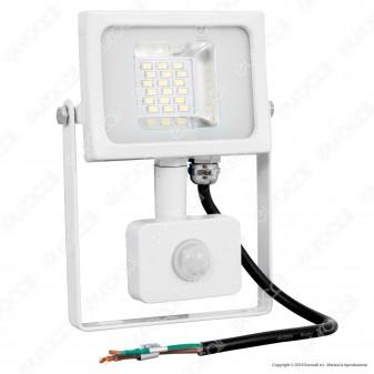V-Tac VT-4810 PIR Faretto LED 10W Ultra Sottile Slim con Sensore Colore Grigio - SKU 5747 / 5748