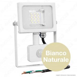 V-Tac VT-4820 PIR Faretto LED 20W Ultra Sottile Slim con Sensore Colore Grigio e Nero - SKU 5697 / 5698 / 5715