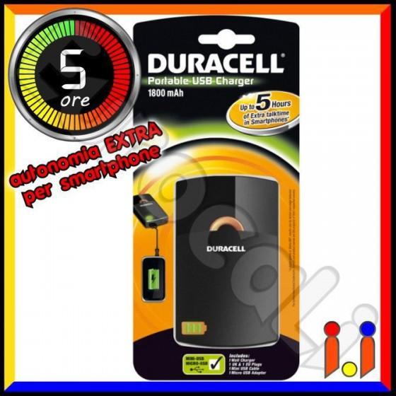 Duracell USB 5 ORE Caricabatterie Portatile [TERMINATO]