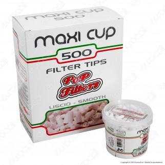 Pop Filters Slim 6mm Lisci - Box 6 Barattoli da 500 Filtri