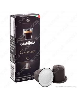10 Capsule Caffè Gimoka Cremoso Cialde Compatibili Nespresso