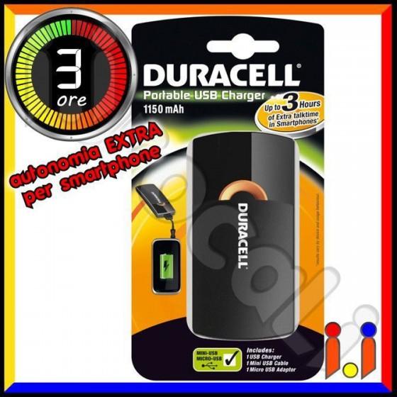 Duracell USB 3 ORE Caricabatterie Portatile