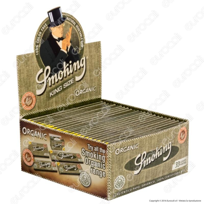 Cartine Smoking King Size Organic Lunghe 100% Bio - Scatola da 50 Libretti