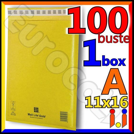 Mail Lite Gold Misura 11x16 cm Rif. A - 100 Buste Postali Imbottite