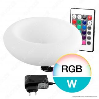 Portafrutta Multicolor LED RGB+W 1,5W con Telecomando IP 65