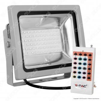 V-Tac VT-4732 RGB Multicolore Faretto LED 30W da Esterno con Telecomando - SKU 5755