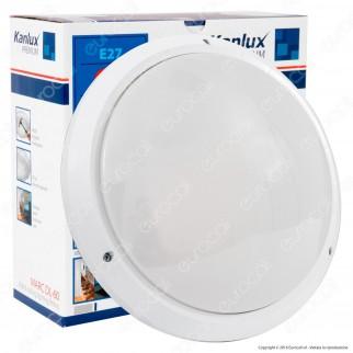 Kanlux MARC DL-60 Plafoniera Portalampada in Policarbonato Colore Bianco per Lampadine E27
