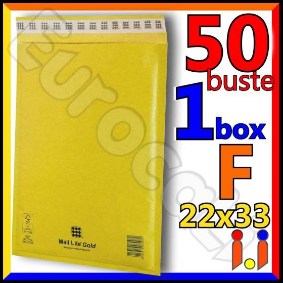Mail Lite Gold Misura 22x33 cm Rif. F - 50 Buste Postali Imbottite