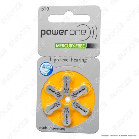 Powerone Misura 10 - Blister 6 Batterie per Protesi Acustiche