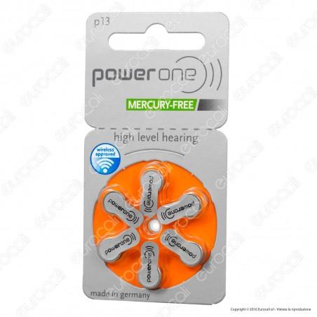 Powerone Misura 13 - Blister 6 Batterie per Protesi Acustiche