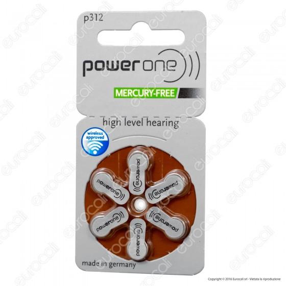 Powerone Misura 312 - Blister 6 Batterie per Protesi Acustiche