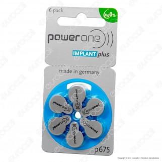 Powerone Implant Plus Coclear Misura 675 - Blister 6 Batterie per Protesi Acustiche