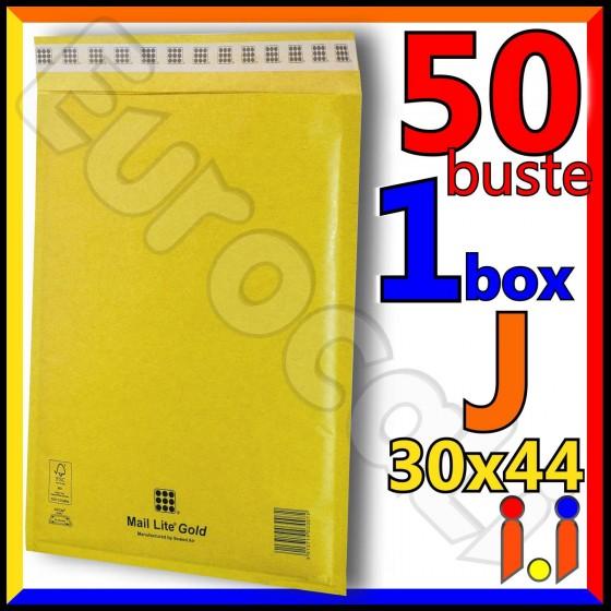 Mail Lite Gold Misura 30x44 cm Rif. J - 50 Buste Postali Imbottite