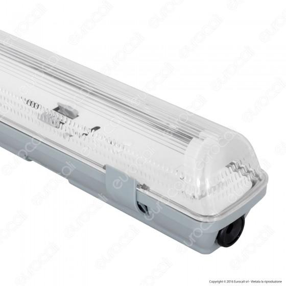 Ledkia Plafoniera Singola Stagna per Tubi LED T8 da 600mm