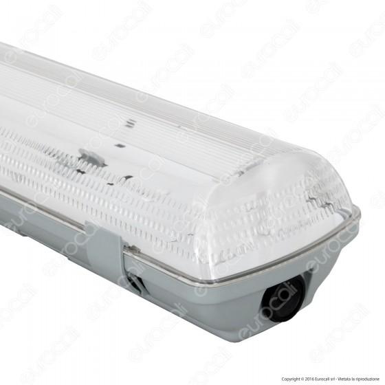 Plafoniera Doppia Impermeabile per Tubi LED T8 da 60cm
