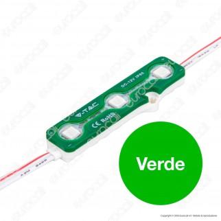 V-Tac VT-50503 Modulo 3 LED 0,72W 12V Monocolore Impermeabile - SKU 5116