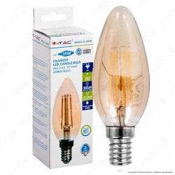 V-Tac VT-1955 Lampadina LED E14 4W Candela Filamento Ambrata - SKU 7113