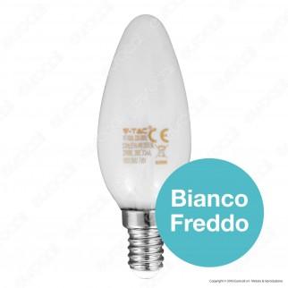 V-Tac VT-1835 Lampadina LED E14 4W MiniGlobo P45 Frost Filamento - SKU 4492 / 4493 / 4494