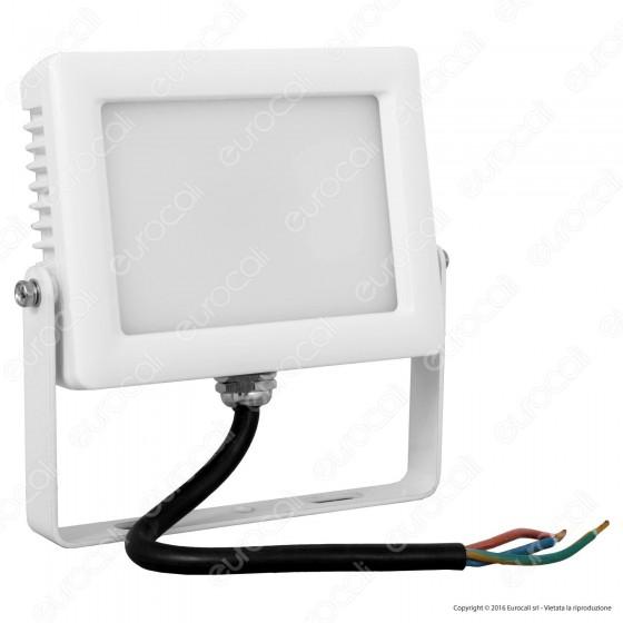 Wiva 91100412 Faretto LED SMD 10W Ultra Sottile da Esterno Colore Bianco