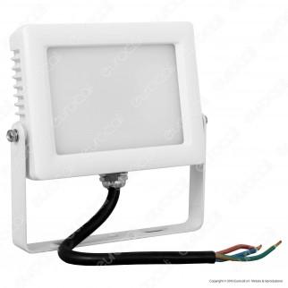 Wiva Faretto LED SMD 10W Ultra Sottile Colore Bianco Con Schermo Opale IP65