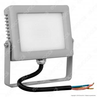 Wiva Faretto LED SMD 10W Ultra Sottile Colore Grigio Con Schermo Opale IP65