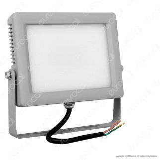 Wiva Faretto LED SMD 30W Ultra Sottile Colore Grigio Con Schermo Opale IP65