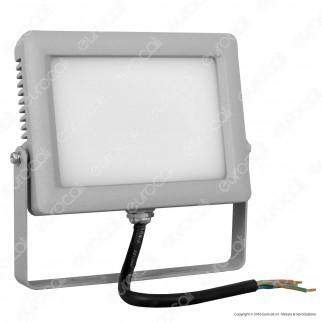 Wiva Faretto LED SMD 20W Ultra Sottile Colore Grigio Con Schermo Opale IP65
