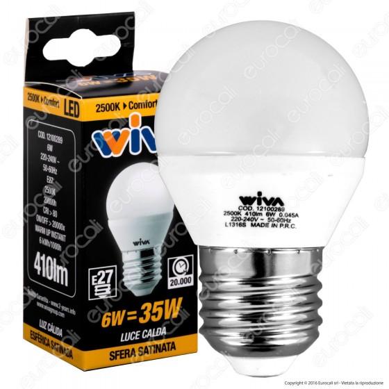 Wiva Lampadina LED E27 6W MiniGlobo G45