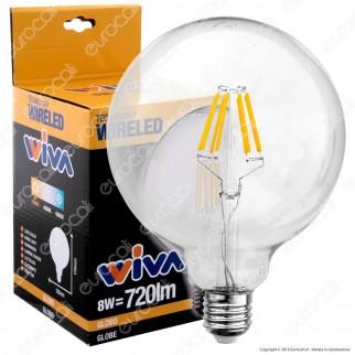 Wiva Lampadina LED E27 8W Globo G126 Filamento Omni - mod. 12100561