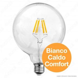 Wiva Lampadina LED E27 8W Globo G126 Filamento Omni